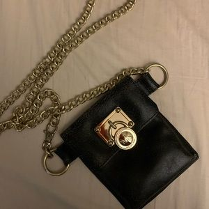 MK by Michael Kors Black and Gold Crossbody